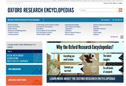 Oxford Research Encyclopedia screenshot