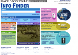World Book Info Finder Screenshot